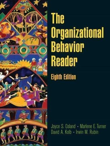 Behavior in Organizations, 8th Edition, INSTRUCTOR'S MANUAL: Jerald Greenberg and
