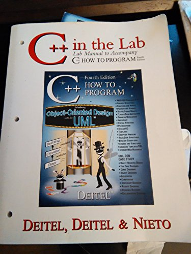 9780130384782: C++ in the Lab: Lab Manual to Accompany C++ How to Program, Fourth Edition