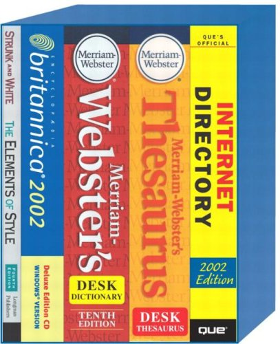 9780130385741: Complete Reference Library: Encyclopedia Britannica Cd-Rom/Meriam-Webster's Desk Dictionary/Merriam-Webster's Desk Thesaurus Cd-Rom/Elements of Style.Que's Official Internet dire