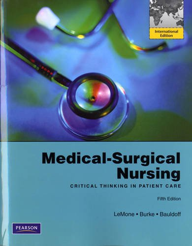 9780130389008: Medical-Surgical Nursing: Critical Thinking in Patient Care