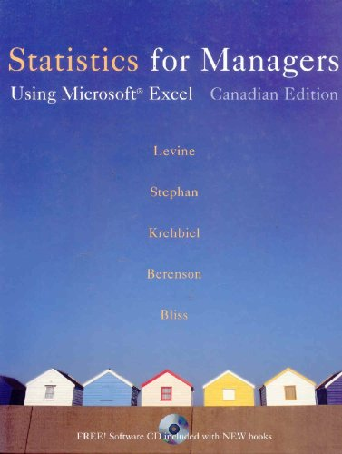 9780130390288: Statistics for Managers: Using Microsoft Excel, First Canadian Edition