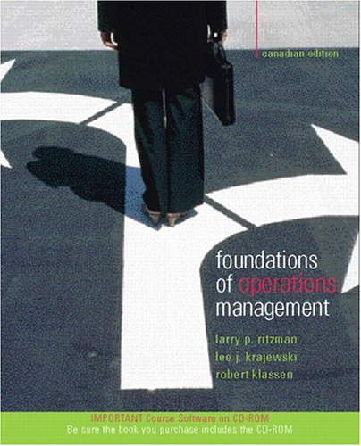 9780130390981: Foundations of Operations Management Canadian Edition