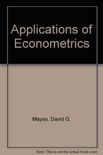 9780130391803: Applications of Econometrics