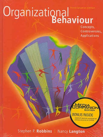 9780130393289: Organizational Behaviour: Concepts, Controversies, Applications, Third Canadian Edition