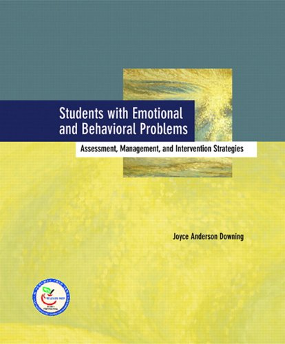 9780130394767: Students with Emotional and Behavioral Problems: Assessment, Management and Intervention Strategies