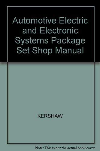 9780130394958: Automotive Electric and Electronic Systems Shop Manual