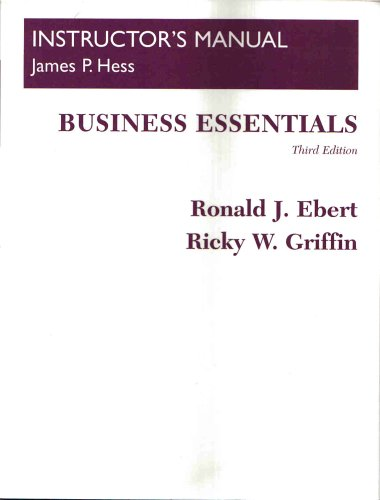 9780130400116: BUSINESS ESSENTIALS, third edition