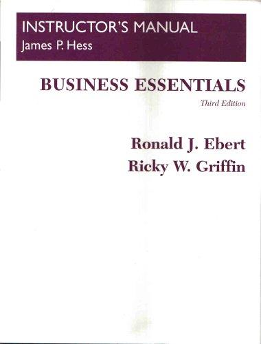 9780130400116: BUSINESS ESSENTIALS, third edition