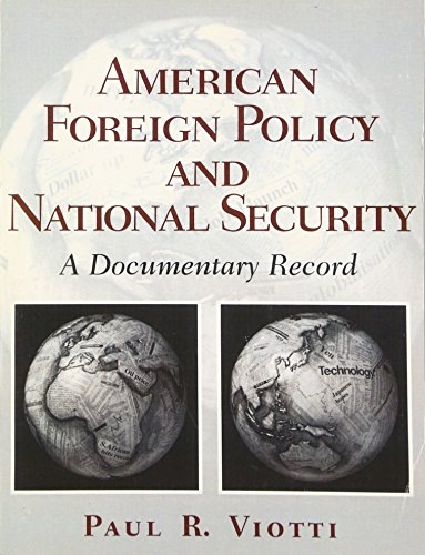 9780130400277: American Foreign Policy and National Security
