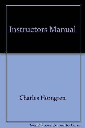 9780130400932: Instructors Manual