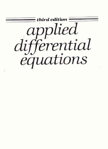 9780130400970: Applied Differential Equations: (3rd Edition)