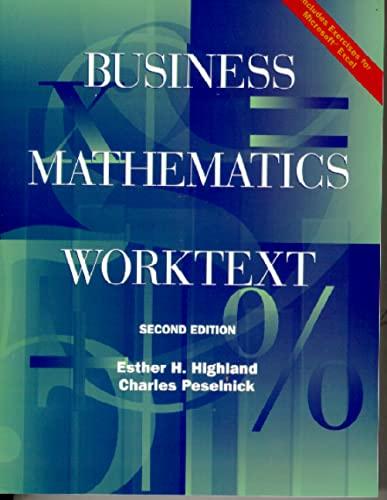9780130401038: Business Mathematics Worktext (2nd Edition)