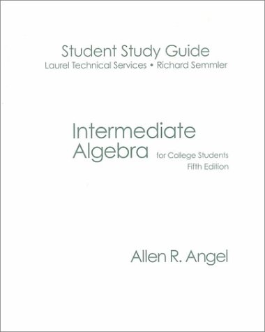 9780130402493: Intermediate Algebra for College Students