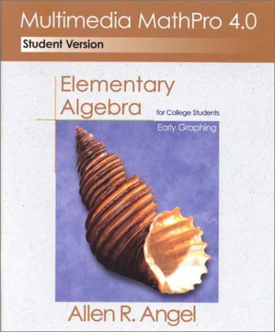 9780130402714: Multimedia Mathpro 4.0: Elementary Algebra for College Students : Early Graphing