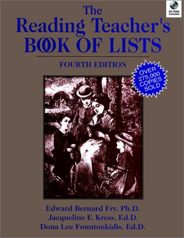 9780130405869: The Reading Teacher's Book of Lists with CD-ROM, 4th Edition