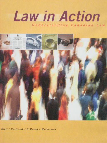 9780130405920: Law in Action : Understanding Canadian Law