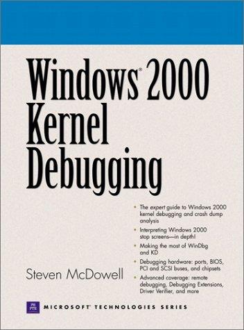 9780130406378: Windows 2000 Kernel Debugging