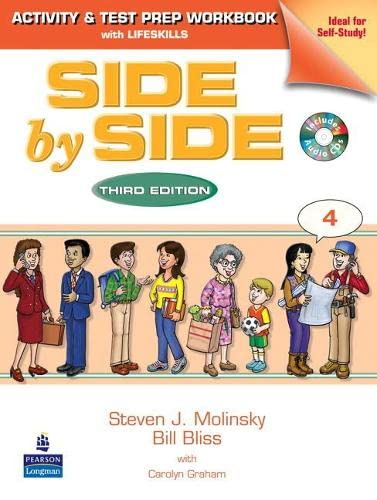 9780130406408: Side by Side 4 Activity and Test Prep Workbook (with 2 Audio CDs) (bk. 4)