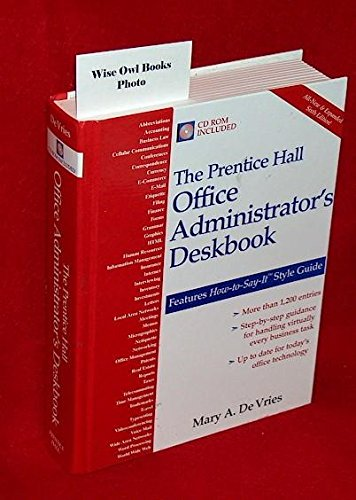 9780130407412: Prentice Hall Office Administrators Deskbook with CD-Rom