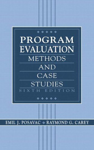 9780130409669: Program Evaluation: Methods and Case Studies