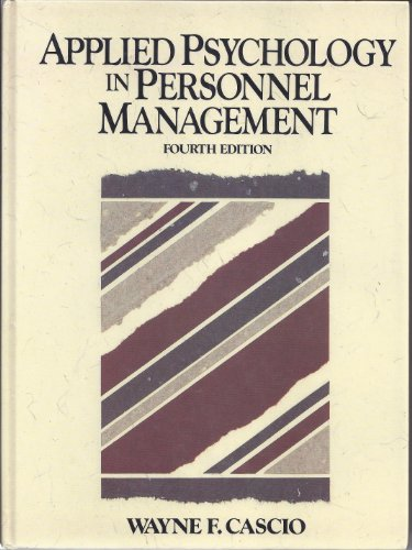 9780130410627: Applied Psychology in Personnel Management