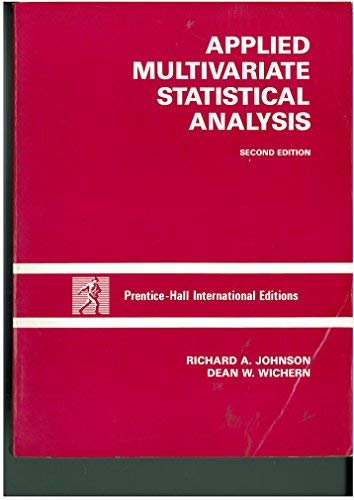 9780130411389: Applied Multivariate Statistical Analysis