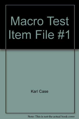 9780130411495: Test Item File 1; Principles of Macroeconomics 6th Ed.
