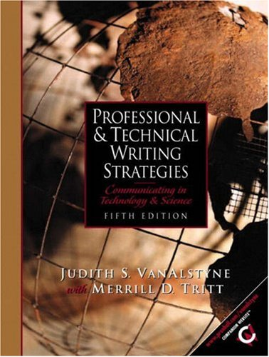 9780130412799: Professional and Technical Writing Strategies: Communicating in Technology and Science (5th Edition)