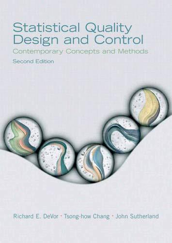 Statistical Quality Design and Control: Contemporary Concepts: DeVor, Richard E.;