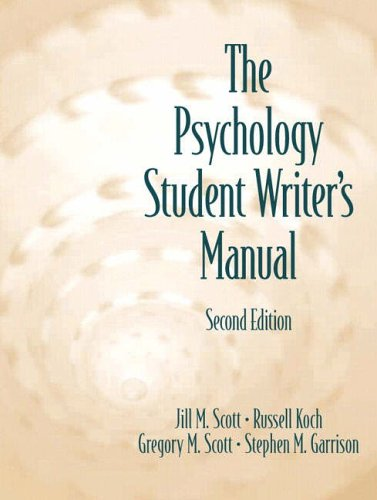 9780130413826: The Psychology Student Writer's Manual