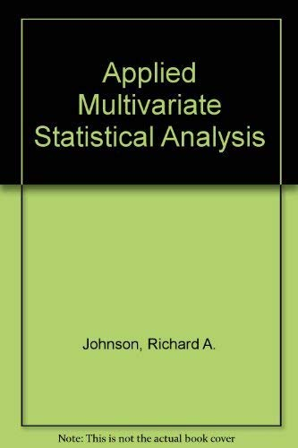 9780130414007: Applied Multivariate Statistical Analysis