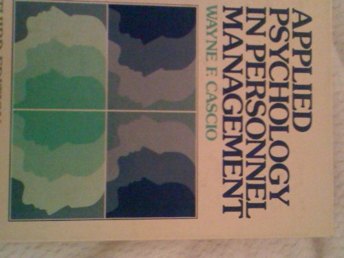 9780130414274: Applied Psychology in Personnel Management