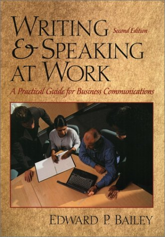 9780130414458: Writing and Speaking at Work (2nd Edition)