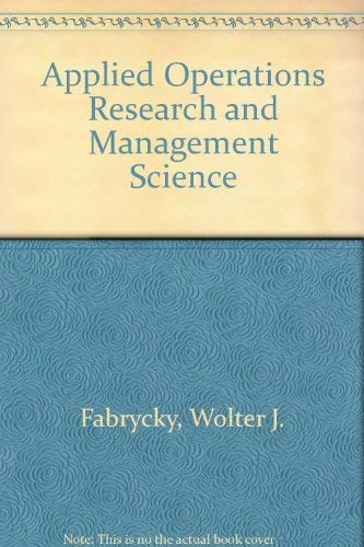9780130414595: Applied Operations Research and Management Science