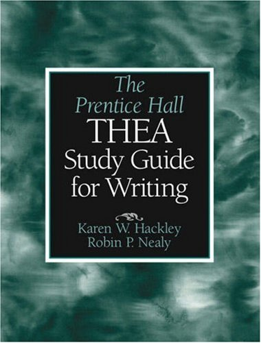 9780130415851: The Prentice Hall THEA Study Guide for Writing
