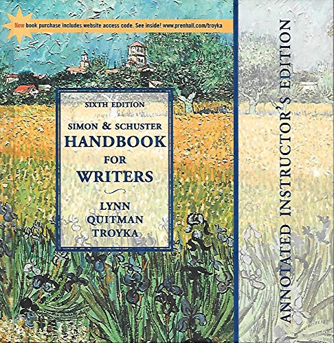 9780130416261: Simon & Schuster Handbook for Writers (Annotated Instructor's Edition)