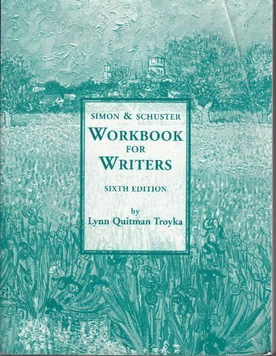 9780130416278: Workbook for Writers Simon & Schuster 6th Edition