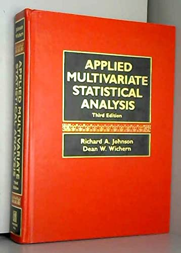 Applied Multivariate Statistical Analysis: Richard A. Johnson,