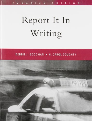 9780130417862: Report it in Writing, Canadian Edition