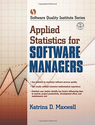 9780130417893: Applied Statistics for Software Managers