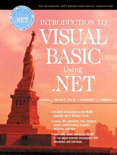9780130418043: Introduction to Visual Basic Using .NET