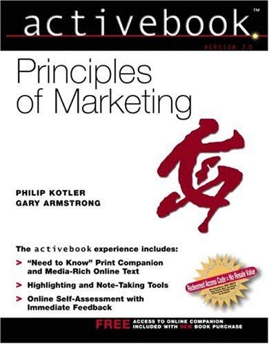 9780130418142: Principles of Marketing, Activebook 2.0