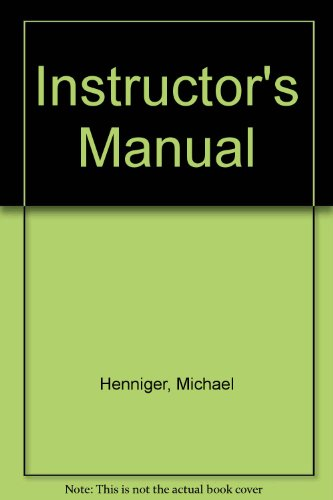 9780130418340: Instructor's Manual and Media Guide to accompany
