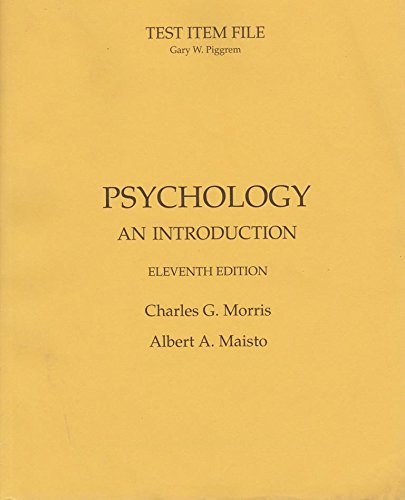 9780130418531: Test Item File for Psychology: An Introduction, 11th Edition