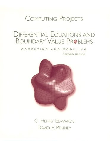 9780130419637: Computing Projects for Differential Equations:Computing and Modeling