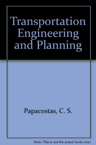 9780130421852: Transportation Engineering and Planning