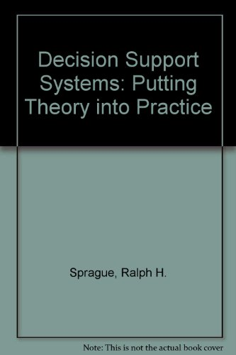 9780130422354: Decision Support Systems: Putting Theory into Practice