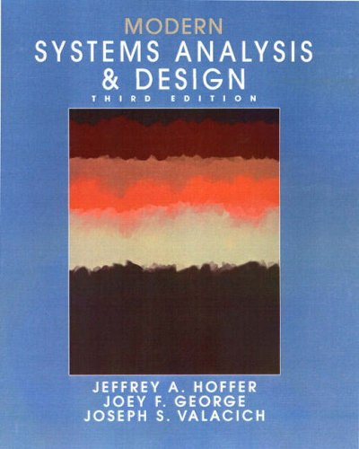 9780130423634: Modern Systems Analysis and Design (International Edition)