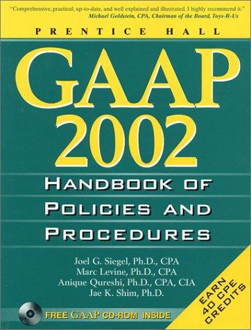 9780130423689: Gaap Handbook of Policies and Procedures: 2002