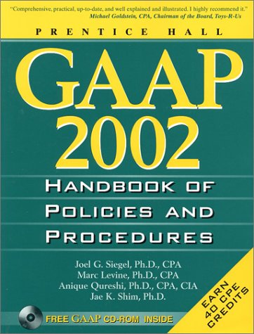 9780130423689: Gaap Handbook of Policies and Procedures: 2002